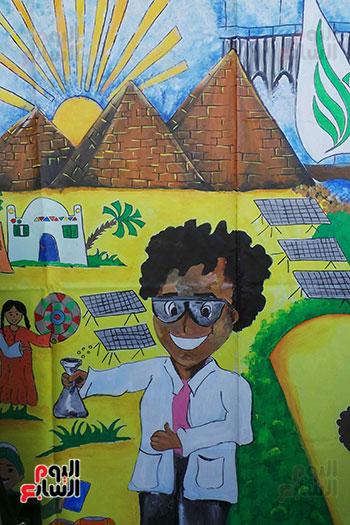تلاميذ بطوكيو يعبرون عن ثقافتهم فى نصف جدارية فنية (3)