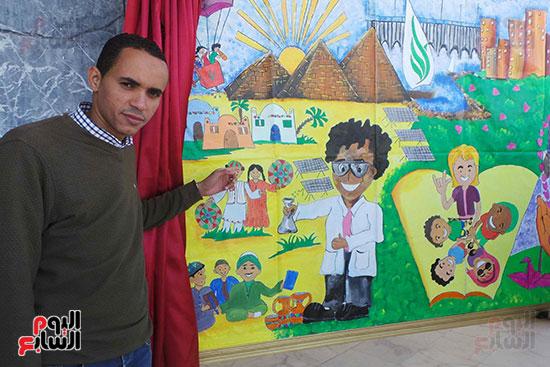 تلاميذ بطوكيو يعبرون عن ثقافتهم فى نصف جدارية فنية (5)