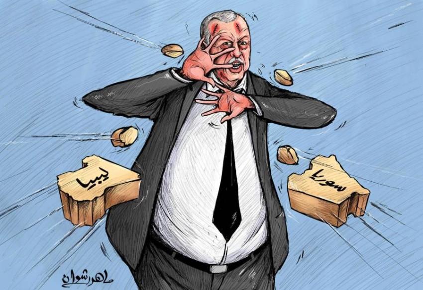 سوريا وليبيا تدمران أردوغان