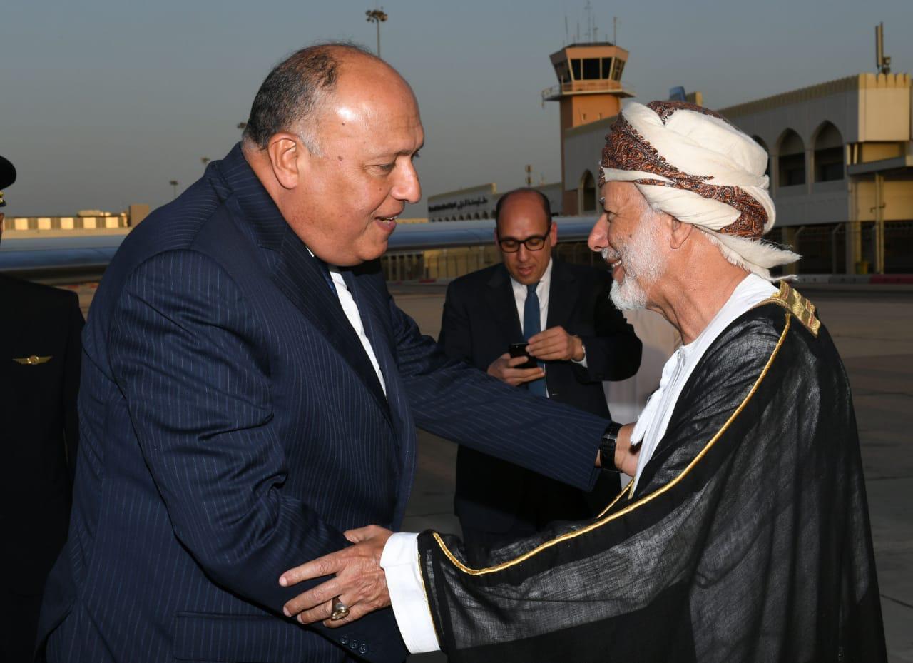 وزير الخارجية العمانى يوسف بن علوى يستقبل الوزير سامح شكرى