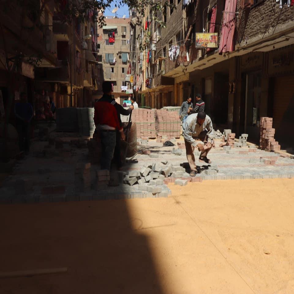 رصف شوارع شمال الجيزة  (1)