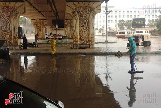 هطول أمطار رعدية علي مدن الشرقية لليوم الثاني (6)