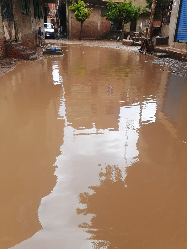 مياه الأمطار تحاصر قرية شطانوف بالمنوفية (1)