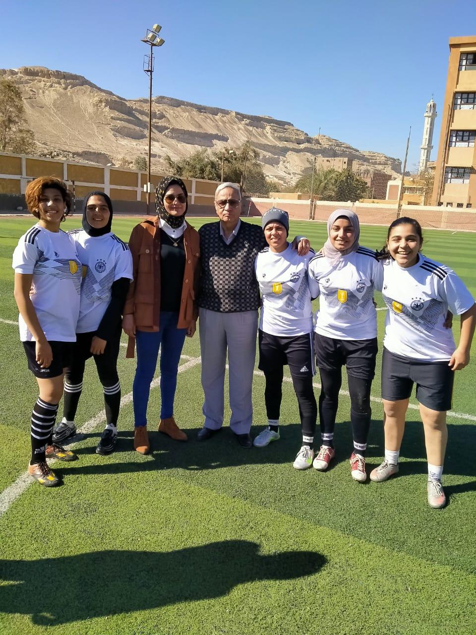 فريق كرة القدم النسائية بمركز شباب البرجاية بالمنيا (4)