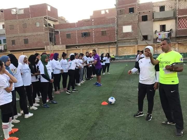 فريق كرة القدم النسائية بمركز شباب البرجاية بالمنيا (7)