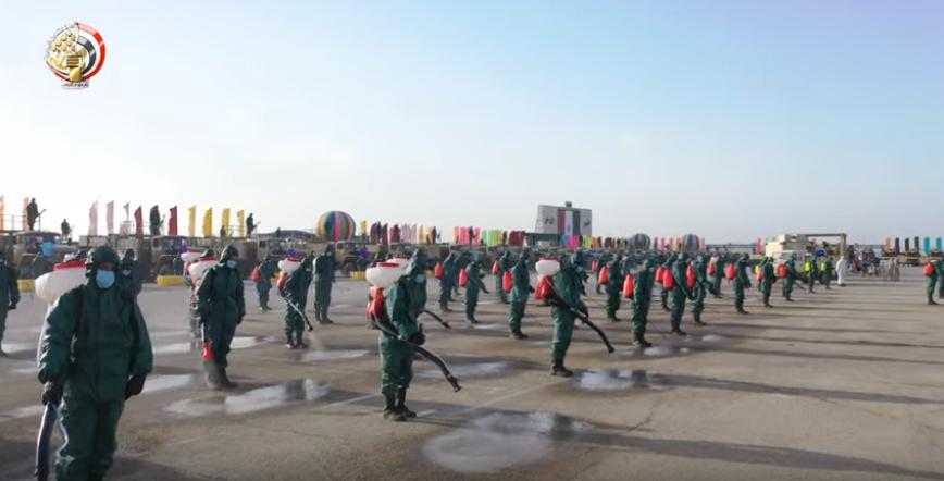عناصر الجيش المصرى لمواجهة خطر كورونا