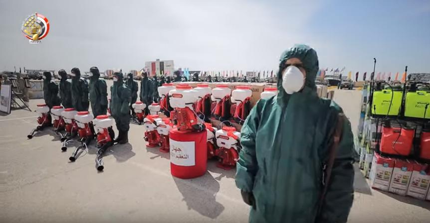 استعدادات الجيش لمواجهة فيروس كورونا