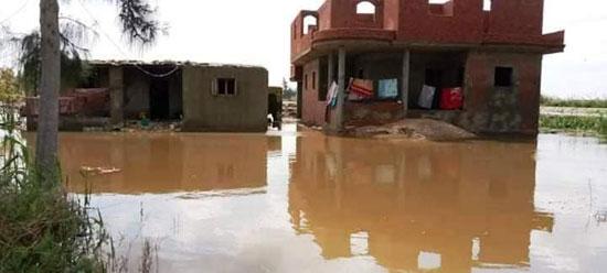 غرق الأرضي الزراعية وعشرات المنازل بقرية بحر البقر (16)