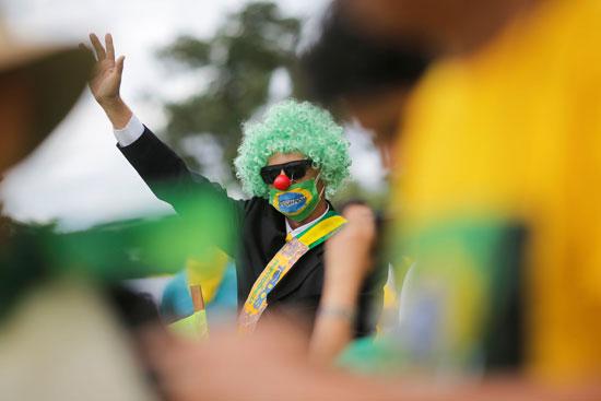 جانب من الاحتجاج فى البرازيل