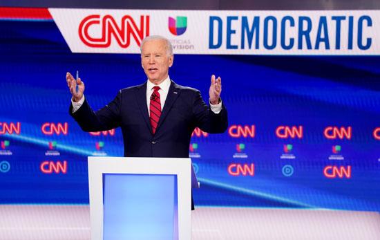 جو بايدن خلال المناظرة