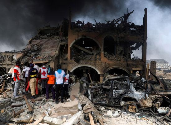 تحطم منزل جراء الانفجار الشديد