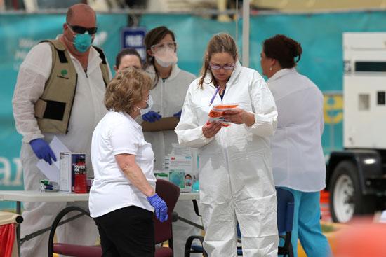 إجراء الفحوصات على المواطنين لمواجهة الفيروس