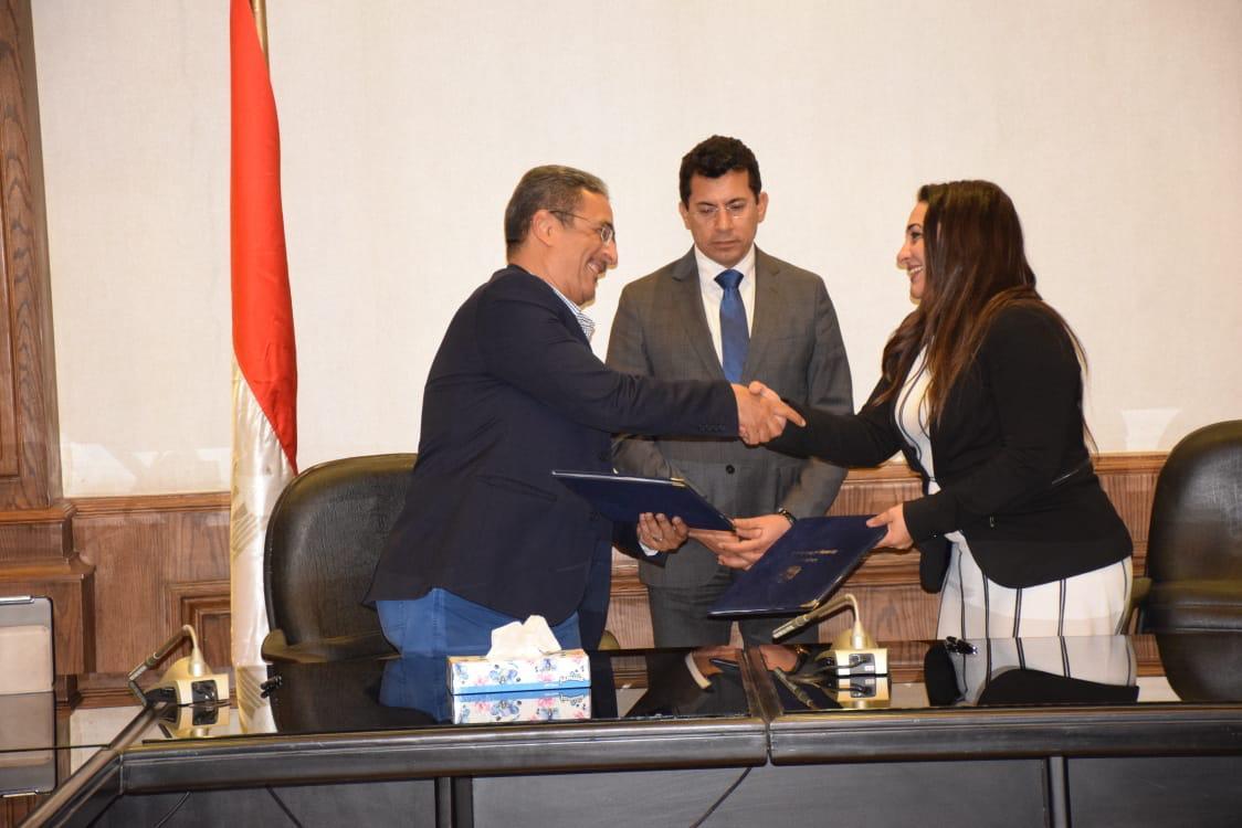 شريف عبد الباقى وويزير الرياضة ومسؤول أيجى جيت