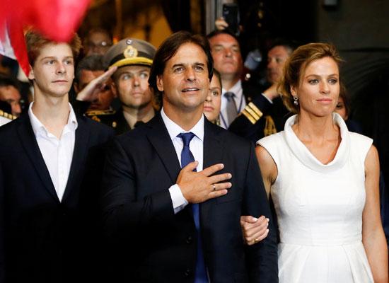 رئيس أورجواى الجديد وزوجته