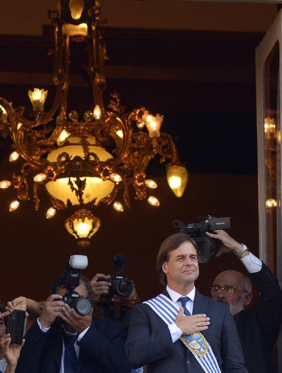 رئيس أورجواى يؤدى اليمين الدستورية