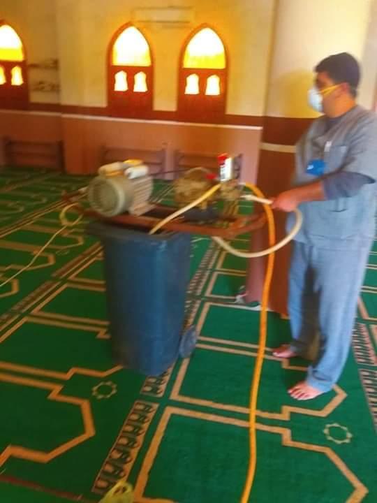 تطهير وتعقيم المساجد في شرم الشيخ لمواجهة كورونا (2)