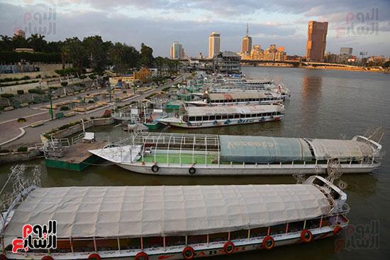 المراكب النيلية بكورنيش النيل