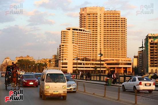 حركة السيارات بكورنيش النيل