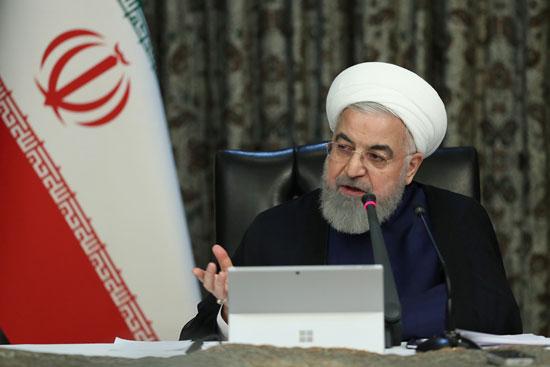 الرئيس-الإيراني-حسن-روحاني-يتحدث-خلال-اجتماع-لفرقة-العمل-الحكومية-الإيرانية-بشأن-الفيروس-التاجي-في-طهران
