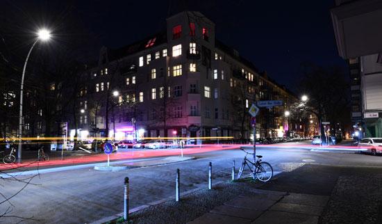 شوارع ألمانيا خالية بسبب كورونا