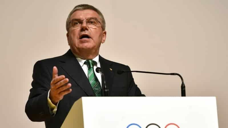 توماس باخ رئيس اللجنة الاولمبية الدولية