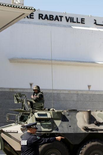 مركبة تابعة للجيش المغربى