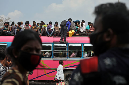 زحام-فى-أتوبيسات-ولاية-البنغال-الغربية-