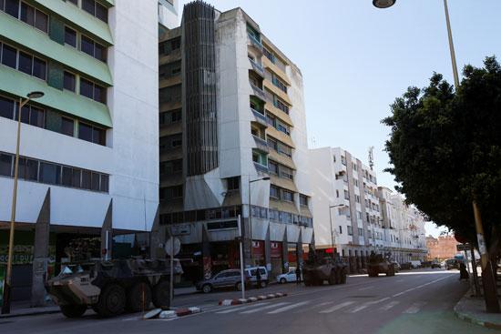مركبات الجيش بشوارع المغرب