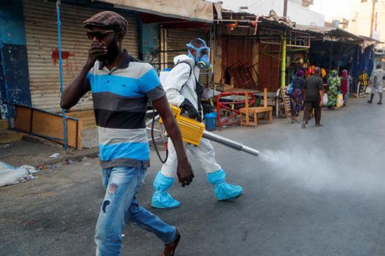 حملات تطهير وتعقيم السنغال