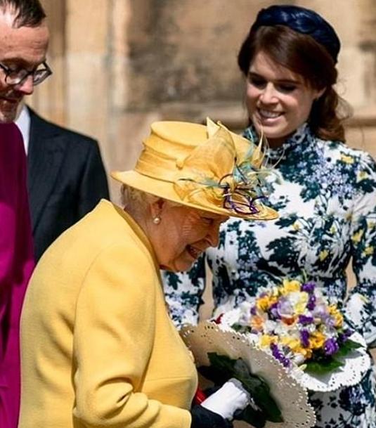الملكة اليزابيث والأميرة أوجينى