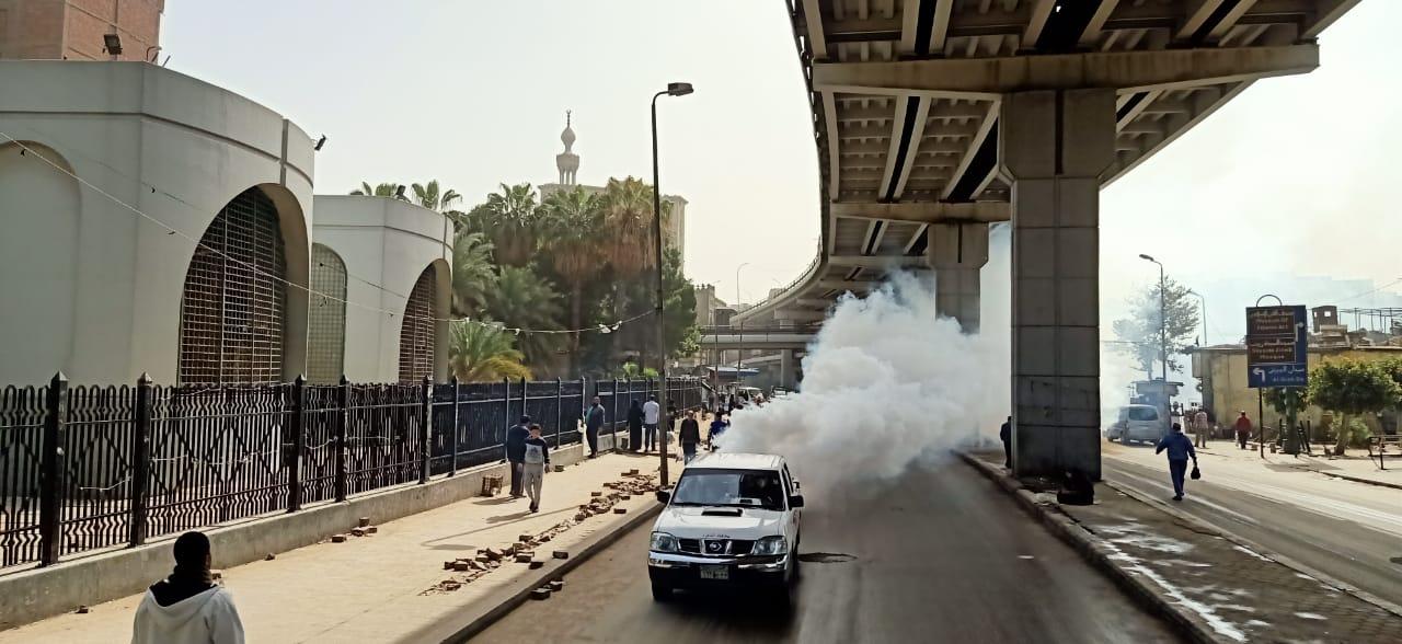 تطهير منطقتى الموسكى والعتبة بالقاهرة لمواجهة كورونا (2)