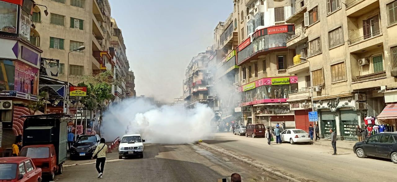 تطهير منطقتى الموسكى والعتبة بالقاهرة لمواجهة كورونا (4)