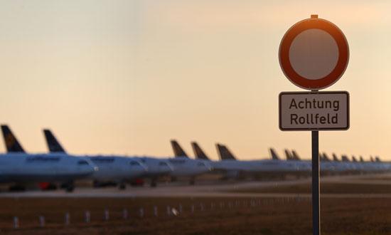طائرات-متوقفه-فى-فرانكفورت