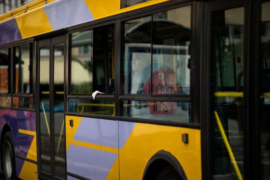 المواصلات العامة متوقفة بالشوارع اليونانية