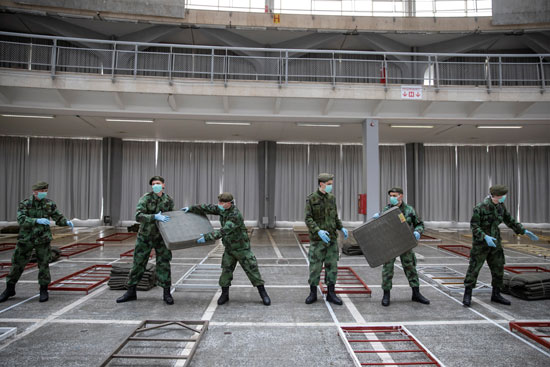 مشاركة-القوات-المسلحة-الصربية-فى-بناء-مستشفى-ميدانى