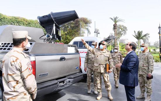 الرئيس-السيسى-يتابع-اجراءات-القوات-المسلحة-لمجابهة-فيروس-كورونا-(2)