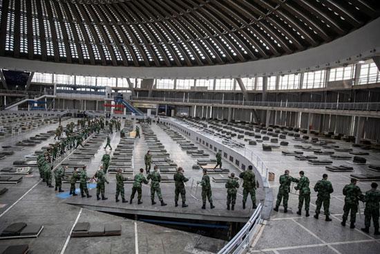 الجيش-الصربى-وتجهيز-مستشفى-ميدانى