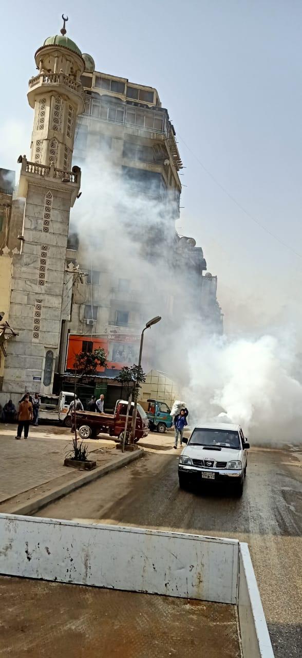تطهير منطقتى الموسكى والعتبة بالقاهرة لمواجهة كورونا (1)