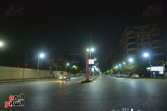 حظر-التجول-فى-امتداد-شارع-البطل-أحمد-عبد-العزيز