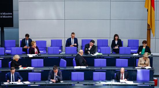 جلسة البرلمان الالمانى