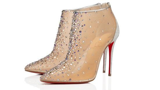 حذاء هاف شفاف ومرصع