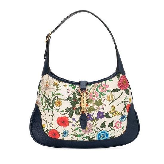 حقيبة مطبوعة بالأزهار