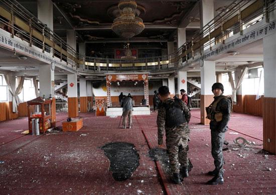 الأمن بموقع الانفجار فى أفغانستان