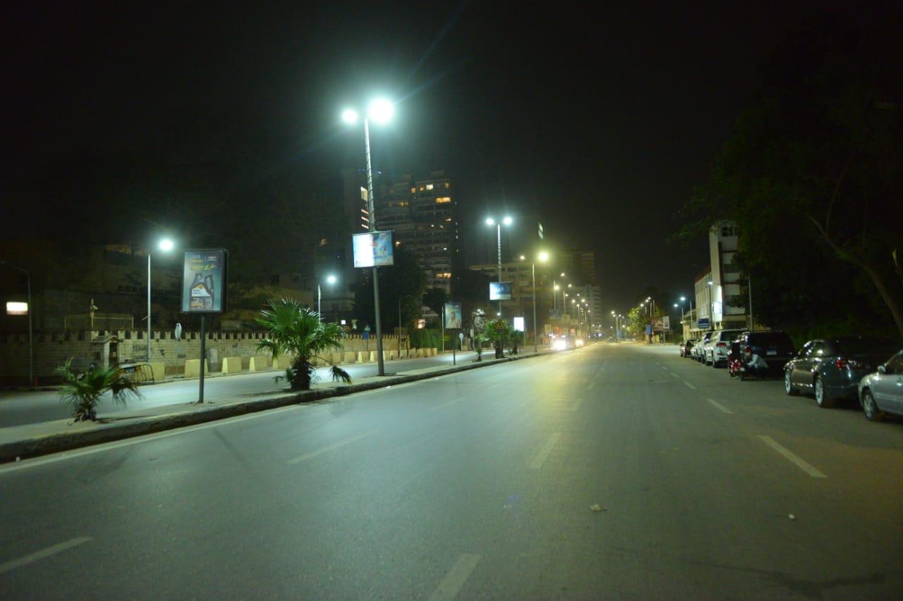 حظر التجوال وسط القاهرة