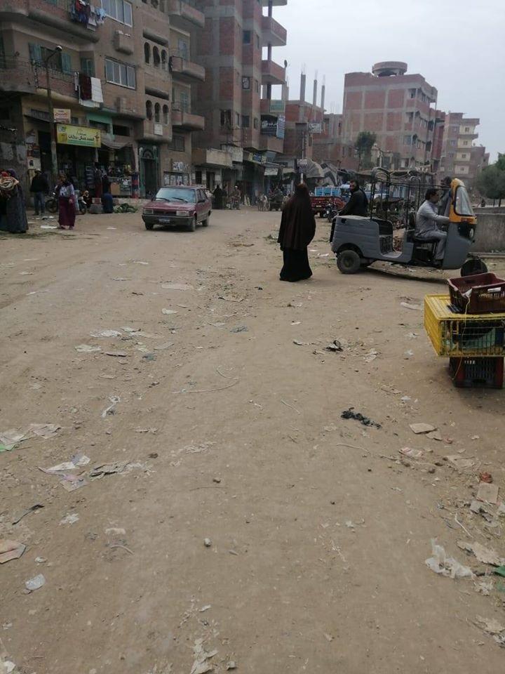 حملة لفض سوق كفر شبين بالقليوبية