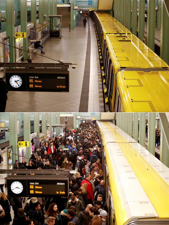 تظهر-الصورة-المركبة-منصة-قطار-مترو-أنفاق-في-برلين