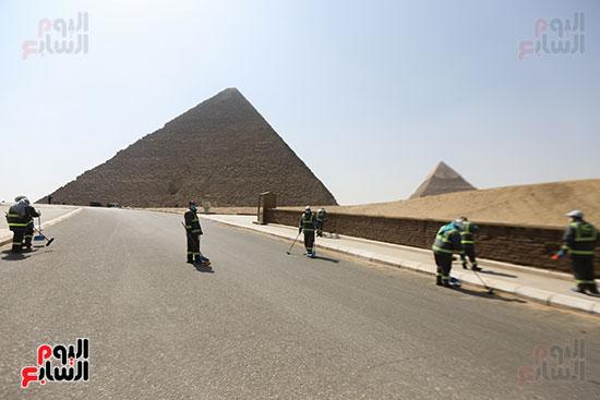 تنظيف منطقه الاهرامات