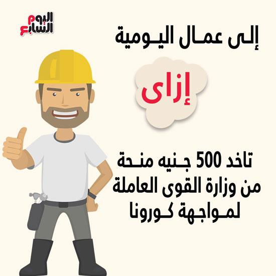 إزاى تاخد 500 جنيه منحة من وزارة القوى العاملة لمواجهة كورونا (1)