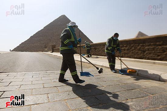 نظافه منطقه الاهرامات