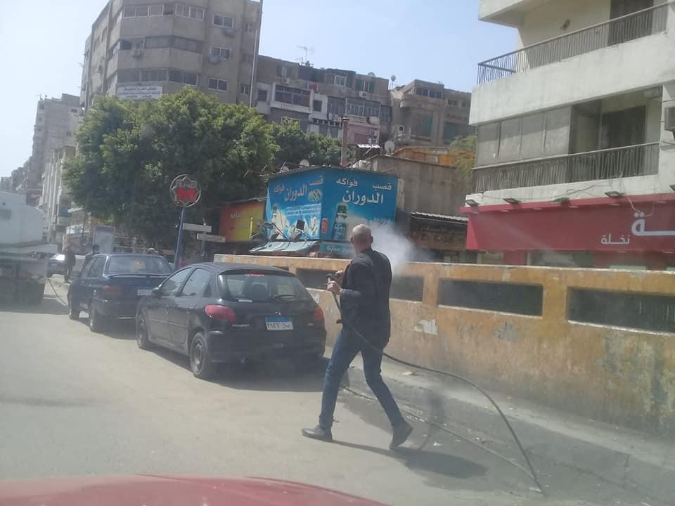تعقيم شوارع القاهرة (2)